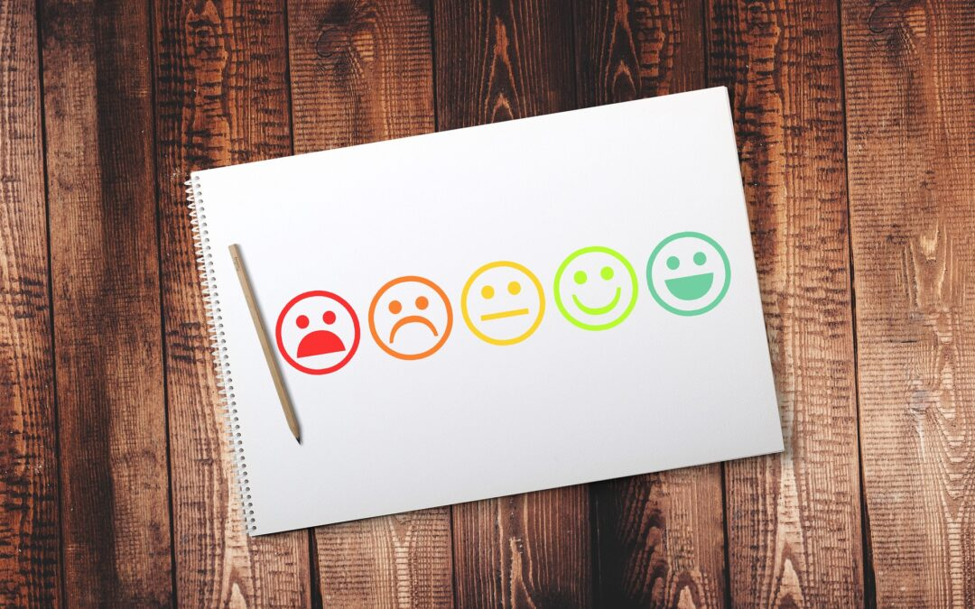 faces pain scale on notebook